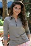 Heather Zipper Top Golf Shirts