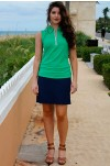 Diamond Textured Bold Navy Golf Skorts