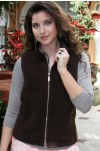 Chocolate Brown Fleece Tech Golf Vests