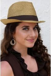 Gold Fedora hats